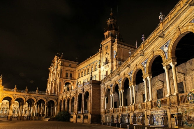 plaza españa noche