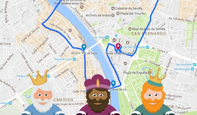 cabalgata reyes magos sevilla mapa