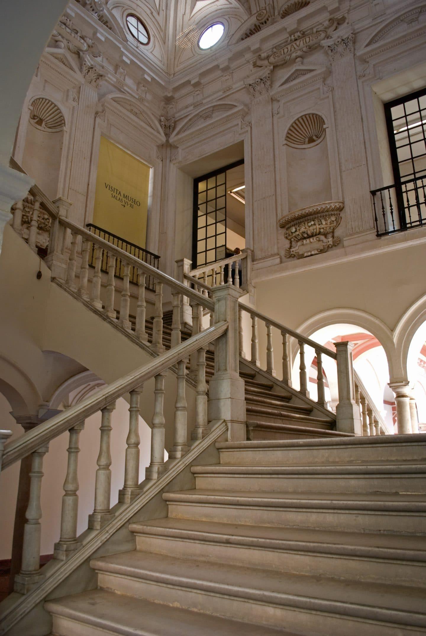 escalera juan oviedo museo bellas artes sevilla
