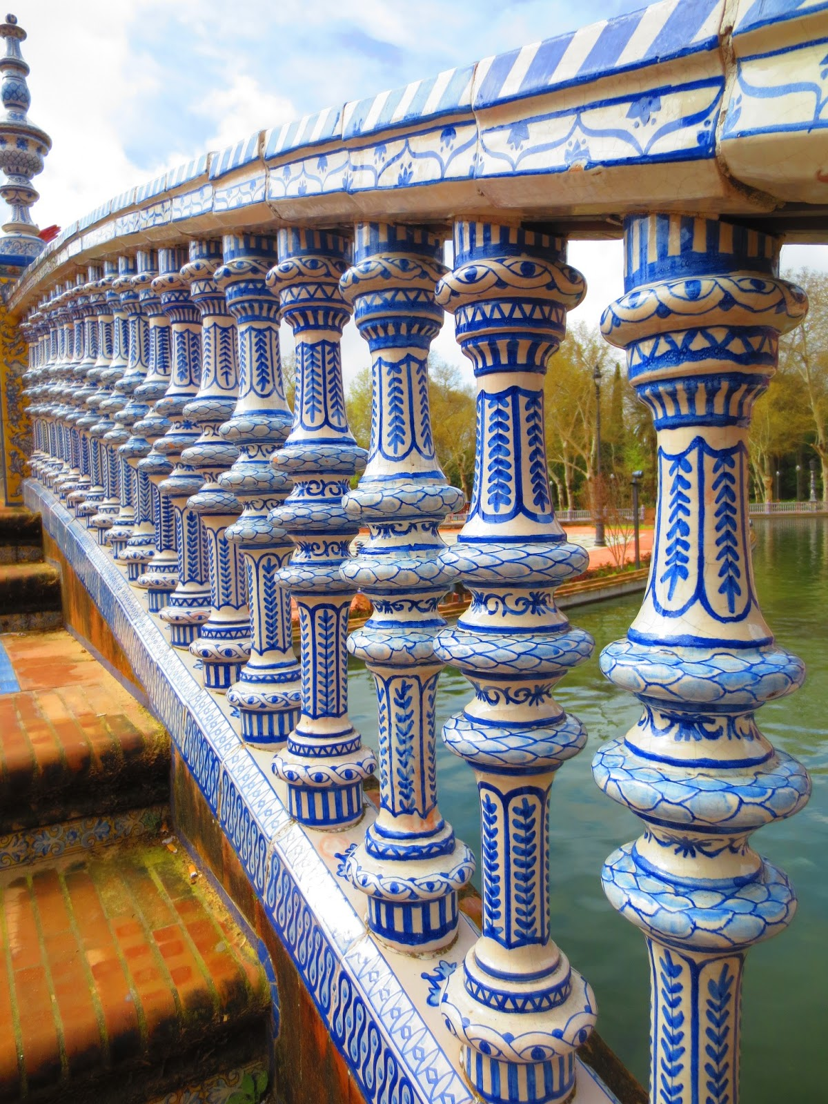 escaleras Plaza de España Sevilla