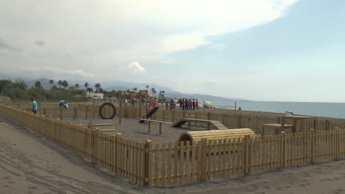playa torre del mar perros